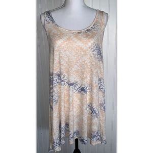 Cloud Chaser 1x Top Tank Lace Racer Back Tunic